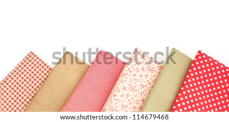 Samples of colored fabrics - stock photo