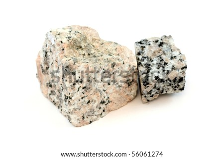 Samples of the igneous rock Granite