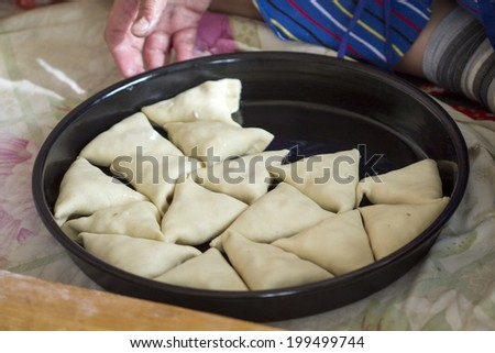 samsa - stock photo