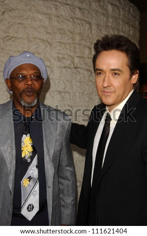 "Samuel L. Jackson and John Cusack at the World Premiere of ""1408"". The National Theatre, Westwood, CA. 06-12-07 - stock photo"