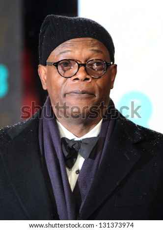 Samuel L Jackson arriving for the 2013 British Academy Film Awards, at the Royal Opera House, London. 10/02/2013 Picture by: Alexandra Glen - stock photo