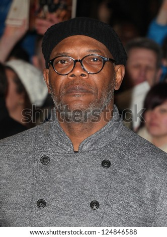 Samuel L Jackson arriving for the Django Unchained Premiere, at Empire Leicester Square, London. 10/01/2013 Picture by: Alexandra Glen - stock photo
