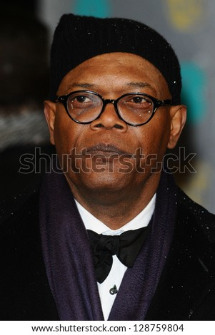 Samuel L Jackson arriving for the EE BAFTA Film Awards 2013 at the Royal Opera House, Covent Garden, London. 10/02/2013 Picture by: Steve Vas - stock photo
