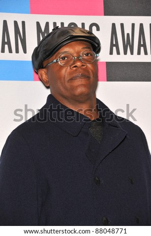 Samuel L. Jackson at the 2010 American Music Awards at the Nokia Theatre L.A. Live in downtown Los Angeles. November 21, 2010  Los Angeles, CA Picture: Paul Smith / Featureflash - stock photo