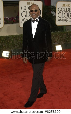 SAMUEL L. JACKSON at the Golden Globe Awards at the Beverly Hills Hilton Hotel. 19JAN2003.  Paul Smith / Featureflash - stock photo