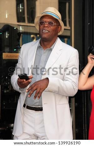 Samuel L. Jackson at the Steve Harvey Star on the Hollywood Walk of Fame, Hollywood, CA 05-13-13 - stock photo