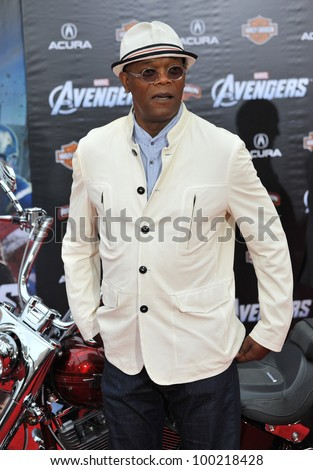 """Samuel L. Jackson at the world premiere of his new movie """"Marvel's The Avengers"""" at the El Capitan Theatre, Hollywood. April 11, 2012  Los Angeles, CA Picture: Paul Smith / Featureflash - stock photo"""