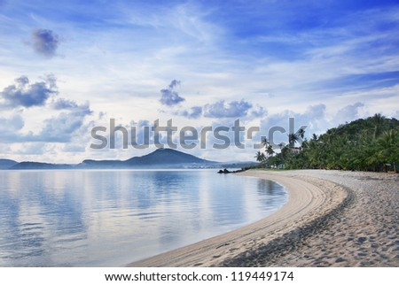 samui island in morning in thailand - stock photo