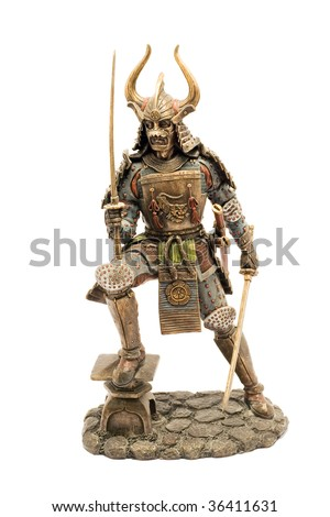 Samurai figurine - stock photo