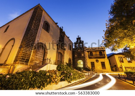 San Agustin Church in La Orotava. Orotava, Tenerife, Canary Islands, Spain.