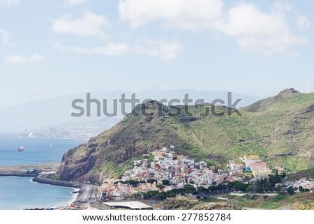San Andres and Teresitas beach on Tenerife Island - stock photo