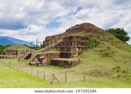San Andres ruins, El Salvador, Central America - stock photo
