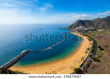 San Andres Village and Las Teresitas Beach, Tenerife