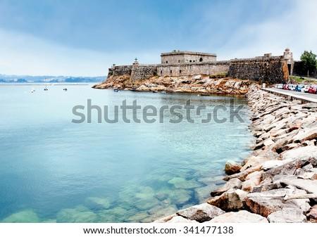 San Anton castle, A Coruna, Galicia, Spain - stock photo