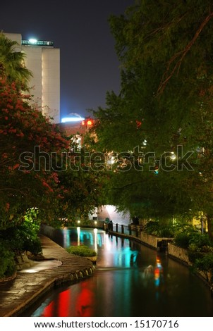 San Antonio Riverwalk at night;  San Antonio, Texas