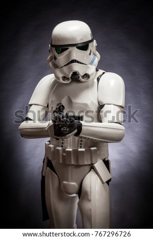 SAN BENEDETTO DEL TRONTO ITALY. NOVEMBER 11 2017. Studio portrait of stormtrooper & SAN BENEDETTO DEL TRONTO ITALY NOVEMBER Stock Photo (Royalty Free ...