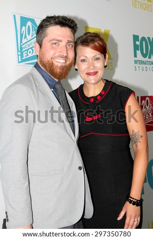 SAN DIEGO, CA - JULY 10: Amber Nash and husband arrive at the 20th Century Fox/FX Comic Con party at the Andez hotel on July 10, 2015 in San Diego, CA. - stock photo