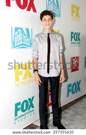 SAN DIEGO, CA - JULY 10: David Mazouz arrives at the 20th Century Fox/FX Comic Con party at the Andez hotel on July 10, 2015 in San Diego, CA. - stock photo