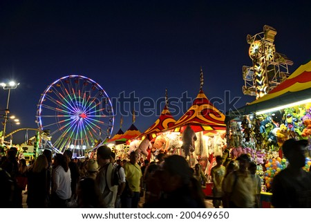 SAN DIEGO, CA -  JULY 2011:  Scene from the San Diego County Fair on July 1, 2011 in San Diego, California. In recent years, attendance figures have risen above a million annually. - stock photo