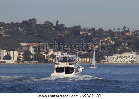 San Diego California Fishing Yacht Seen From the Side