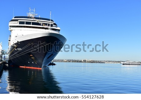 San Diego, California - USA - December 04, 2016: Port of San Diego's cruise