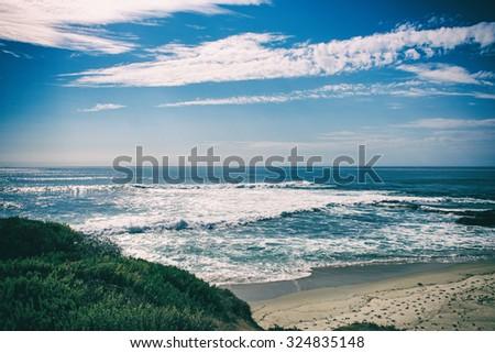 San Diego, California, USA - La Jolla beach - stock photo