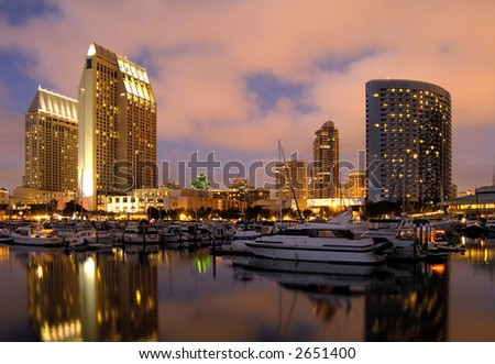 San Diego downtown marina - stock photo
