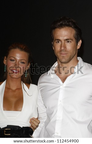 SAN DIEGO - JUL 24: Blake Lively, Ryan Reynolds backstage at the 2010 Comic Con on July 24, 2010 in San Diego, California. - stock photo