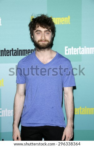 SAN DIEGO - JUL 11:  Daniel Radcliffe at the Entertainment Weekly's Annual Comic-Con Party at the Hard Rock Hotel on July 11, 2015 in San Diego, CA - stock photo