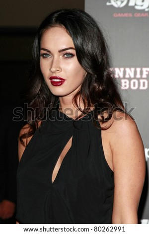 SAN DIEGO - JUL 23: Megan Fox at the MySpace/IGN Jennifer's Body Party during Comic-Con 2009 held at the Manchester Grand Hyatt Hotel in San Diego, California on July 23, 2009 - stock photo