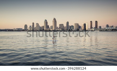 SAN DIEGO, USA - SEPTEMBER 19: cityscape on September 19, 2015 in California, United States. It has estimated population of 1,381,069 as of July 1, 2014. - stock photo