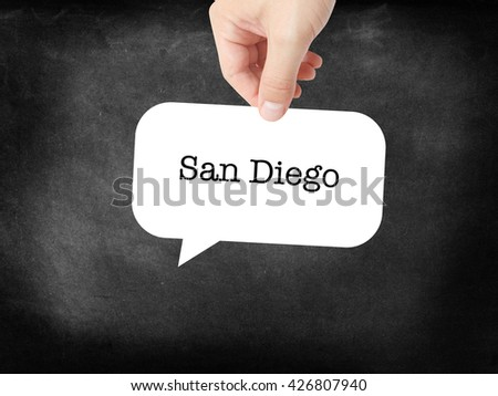 San Diego written on a speechbubble
