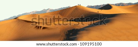 San Dunes in the evening sunlight at the stovepipe wells region of Death valley national park - stock photo