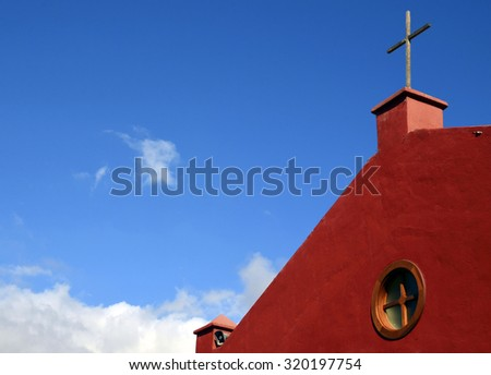 San Eugenio church in Tenerife,Canary Islands,Spain. - stock photo