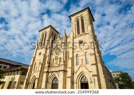 San Fernando Cathedral San Antonio, Texas - stock photo