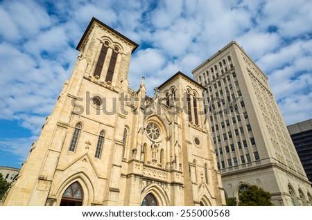 San Fernando Cathedral San Antonio, Texas - stock photo