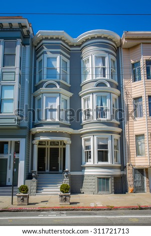 SAN FRANCISCO - August 2015: Historic victorian house in San Francisco, CA