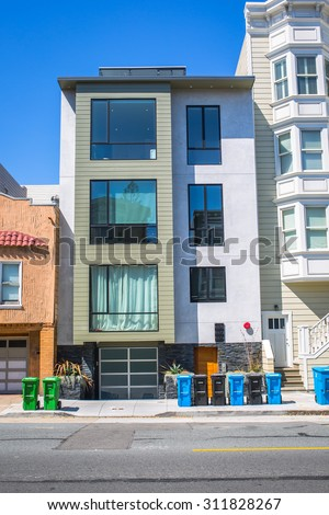 SAN FRANCISCO - August 2015: Modern apartment building in San Francisco, CA