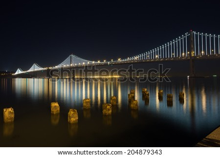 San Francisco Bay Bridge Reflection