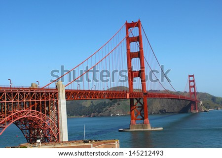 San francisco bridge (Golden gate suspension bridge)