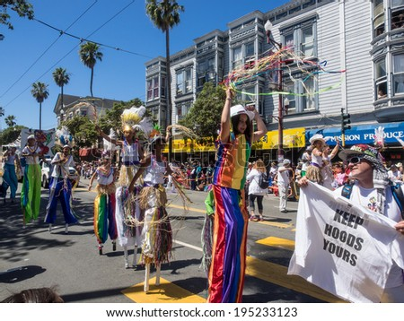 SAN FRANCISCO, CA/USA - MAY 25: San Francisco Carnaval Grand Parade on Memorial Day Weekend 2014 in San Francisco.