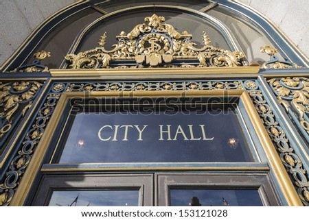 SAN FRANCISCO, CALIFORNIA - JAN 14:  Historic City Hall. The Board of Supervisors unanimously approved a first ever two year balanced budget for 2012-2014 on January 14, 2013 in San Francisco, CA.