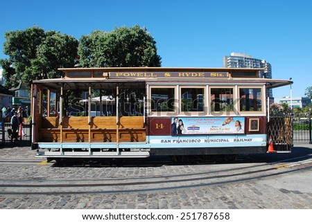 San Francisco, California - June 19 2011: Cable Car System is a unique transportation of San Francisco. - stock photo