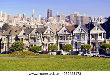 SAN FRANCISCO - CIRCA DECEMBER 2013. The housing market continue its strength across most major cities. San Francisco, is one of the cities benefiting from the recent rise in home prices. California. - stock photo