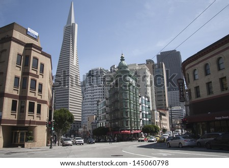 San Francisco city center, California - stock photo