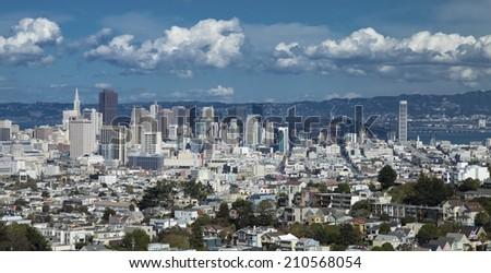 San Francisco City Downtown, California - stock photo