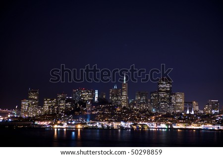 San Francisco Cityscape from Alcatraz - stock photo