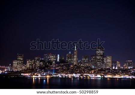 San Francisco Cityscape from Alcatraz - stock photo