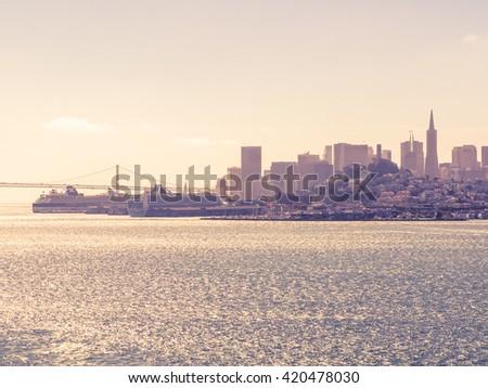 San Francisco cityscape, USA - stock photo