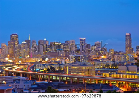 San Francisco downtown - stock photo